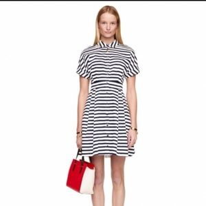 Kate Spade Navy Blue Stripe Dress Sz 6